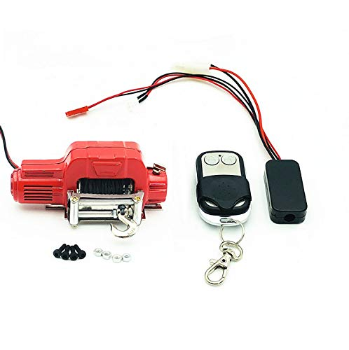 Buy Discount COLOR TREE Metal Electric Winch Remote Controller RC Car Crawlers for TRX-4 TRX4 D90 SC...