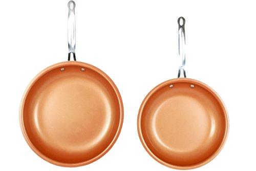 MASTERPAN Kupferfarben, 25,4 cm und 30,5 cm, Antihaft-Keramikpfannen, 2 Stück