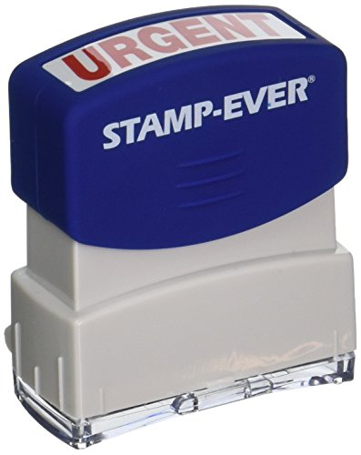 Stamp-Ever Pre-Inked Message Stamp, Urgent, Stamp Impression Size: 9/16 x 1-11/16 Inches, Red (5967)