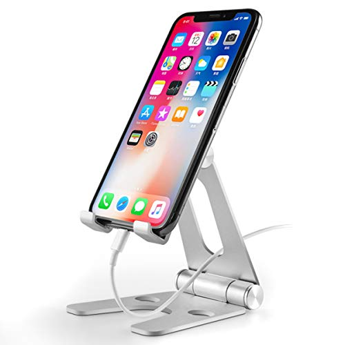 SOONHUA Klappbare, drehbare Aluminiumlegierung, Tischhalterung, Handyhalter, Tablethalter, Ständer für 8,9 - 25,4 cm (3,5 - 10 Zoll) Handys, Tablets, Smartphones