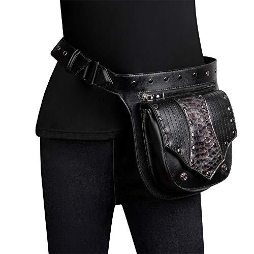 MAATCHH-SOHW Männer Frauen Mehrzweck Bein Arm Tasche Steampunk Retro Motorrad Tasche Lady Bag Retro Rock Gothic Goth Schulter Taille Taschen Packs Steampunk Bag Wallet Purse Pouch Tasche