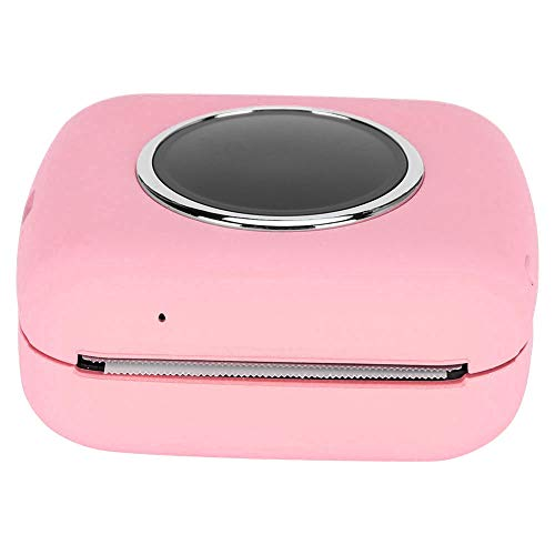 Impresora Bluetooth duradera, Mini impresora HD Impresora de cámara portátil Impresora de recibos de impresión sin tinta, para impresión de imágenes Extracción de texto(Pink)