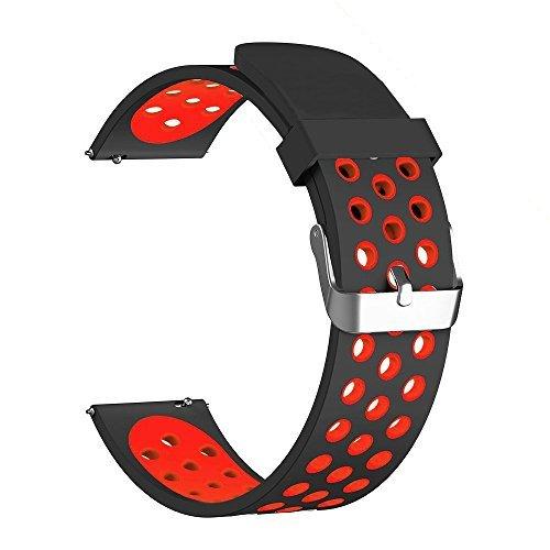 WATORY Armband für Garmin Vivoactive 3 Weich Silikon atmungsaktiv Sport Band Wasserdicht Alternative UhrenArmbandd Armbandd für Garmin Vivoactive 3/3 Music, Garmin Venu, Ticwatch E/2