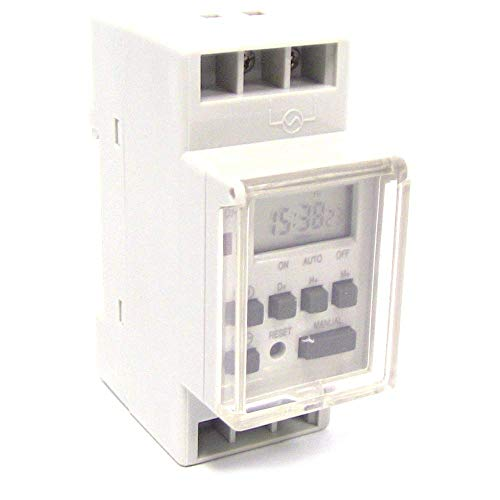 BeMatik - Programador eléctrico Digital semanal Tipo Carril DIN 35mm
