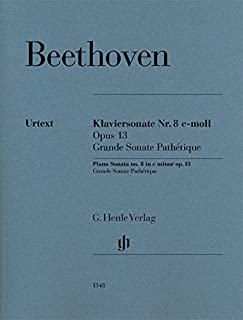 Piano Sonata no. 8 in C minor Op. 13 - Grand Sonate Pathétique - Piano - Sheet music - (HN1348) (English, German and French Edition)
