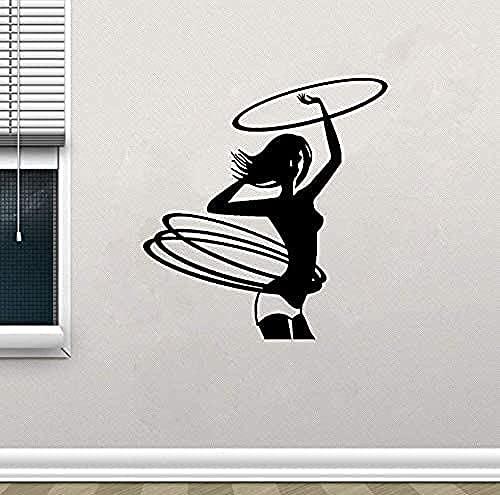 jjyyy Pegatinas de Pared para Gimnasia, salón para Banquetes, Dormitorio, PVC, decoración para Gimnasio, 57X60 cm