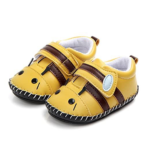 0-2 Meses Animal Abeja Zapatos De Bebé Suela De Goma Antideslizante Zapatos para Niños Pequeños Zapatos De Bebé con Velcro