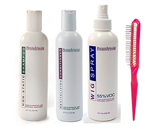 Brandywine Synthetic and Human Hair Care Products (8oz Shamp, Cond and Wig Spray)