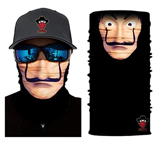 Bandits Team I Bedrucktes Multifunktionstuch I Face Shield aus Mikrofaser- fürs Motorrad-, Fahrrad- und Skifahren I Farbe: Hausdesgeldes I 1er Pack