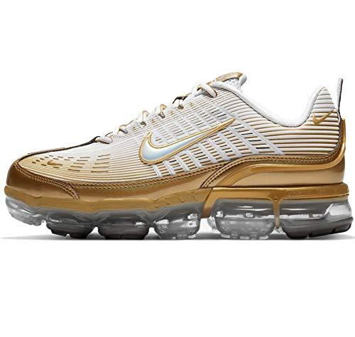 Nike Air Vapormax 360 Ck9671-101 - Zapatillas de correr para hombre, dorado (Blanco/Dorado metálico-negro-reflejo plateado), 40.5 EU