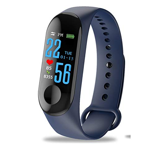 xinyankeying Waterproof Fitness Trackers, Color Touch Screen Heart Rate Tracker Fitness Watch Blood Pressure Pedometer Smart Watch Bracelet Sleep Monitor Stopwatch Compatible with Android iOS
