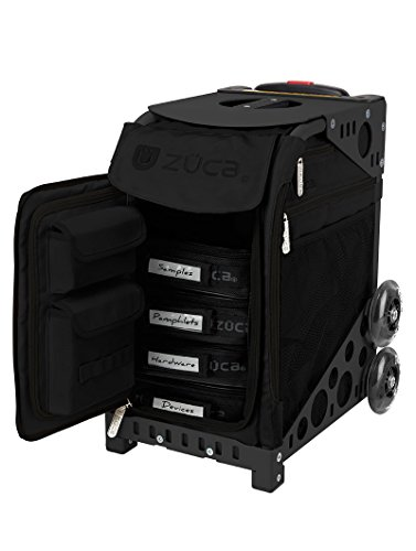 ZUCA Sport Artist Stealth Bag and Black Frame with Non-Flashing Wheels includes 4 Large Utility...
