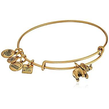 Alex and Ani Charity By Design, Elephant II Rafaelian Gold Bangle Bracelet