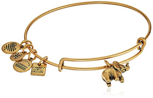 Alex and Ani Elephant II Rafaelian Gold Bangle Bracelet