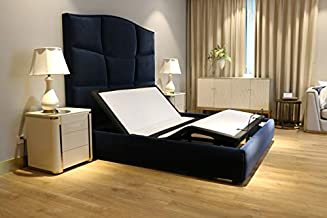DynastyMattress DM1000C Adjustable Bed Base Individual Head & Foot Control, Platform Bed Compatible, Dual Massage, Wireless Remote, Zero Gravity (Queen, Adjustable Base Only)