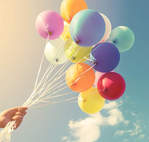 100x globos premium Ø 35 cm globos, para helio y aire - como decoración para bodas, cumpleaños y fiestas