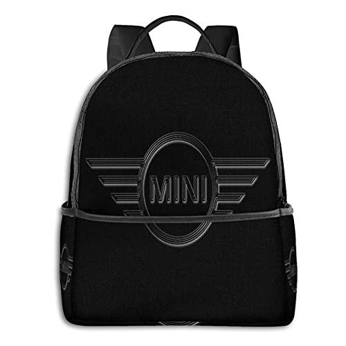 Mi-Ni Cooper Logo - Mochila para hombre y niña, mochila de viaje, mochila multifuncional, con impresión en D, resistente al agua, resistente al agua