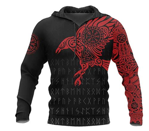 Viking Myth 3D Printed Unisex Pullover Casual Sports Hoodie para Hombres WML00331GC 4XL