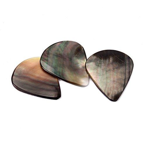 rosenice Gitarre Plektren Echter Muschel Pick-Set 3(schwarz)