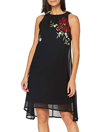 Desigual Vest_Roma Vestido Casual, Negro, XXL para Mujer