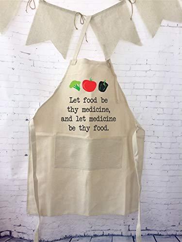 Tr73ans vegetarisch schort vegan gift verstelbare schort bruiloft cadeau voor kok boeren markt schort hele voedsel plant voeding geschenk