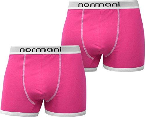 normani 4 x Herren Retro Boxershorts aus Baumwolle mit weichem Bund Farbe Retro/Rosa Größe L