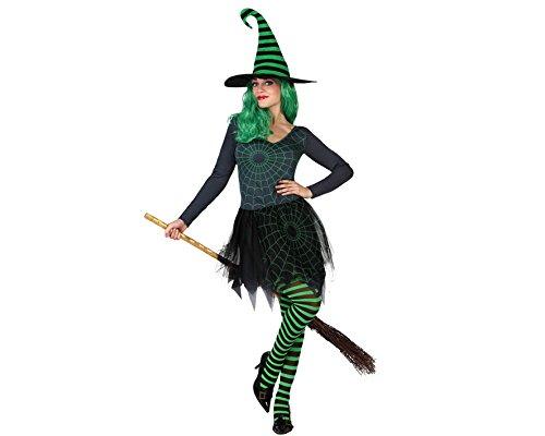 Costume Strega Ragno Verde Donna Halloween XS / S