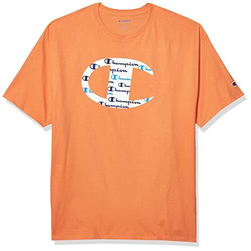 Champion - Camiseta clásica para hombre Naranja Horizon Naranja XS