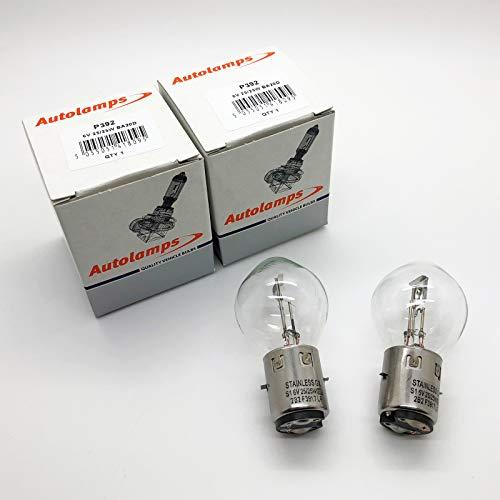 Halogen-Scheinwerferlampe, S1 392, 6 V, 35/35 W, BA20D, 2 Stück