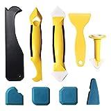 Daymi 9 en 1 Kit de herramientas de calafateo de silicona, juego de removedor de sellador de 9 piezas , herramienta de alisado de acabado de...