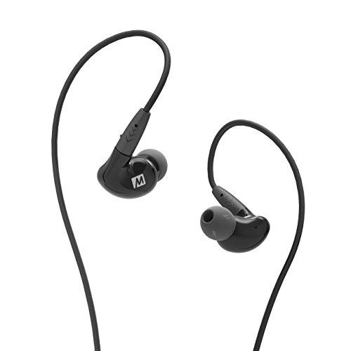MEE audio - Pinnacle P2, Audiophile, In-Ear, geräuschisolierend, Kopfhörer mit austauschbarem Kabel, mit Mikrofon und Fernbedienung, Schwarz