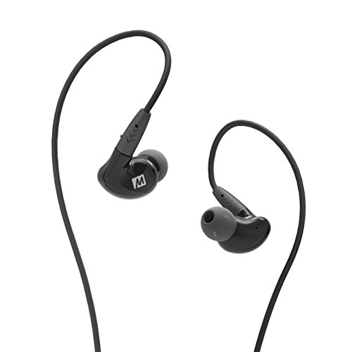 Mee Audio Pinnacle P2 audiófilo de Alta fidelidad Auriculares in-Ear con Cables Desmontables – Negro