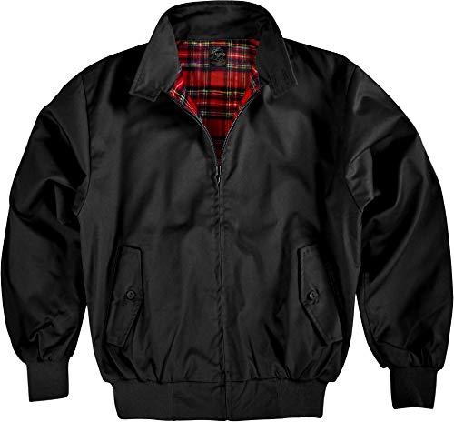 Original GearUp® Harrington Jacke English Style in 12 verschiedenen Designs wählbar Farbe Schwarz Größe L