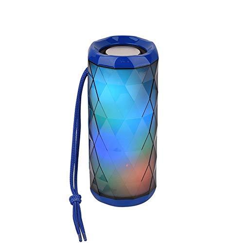 T-ara Calidad de sonido de alta fidelidad Luces de colores Bluetooth inalámbrico Tarjeta de altavoz Bluetooth Portátil Al aire libre Portátil Subwoofer Subwoofer Regalos creativos La tecnologia mas nu