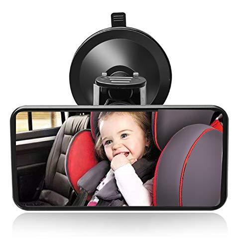 SunTop Bebé Espejo Retrovisor, Universal de Coche Asiento Trasero Vista Espejo Monitor de Coches de Bebé, 12 x 6 cm