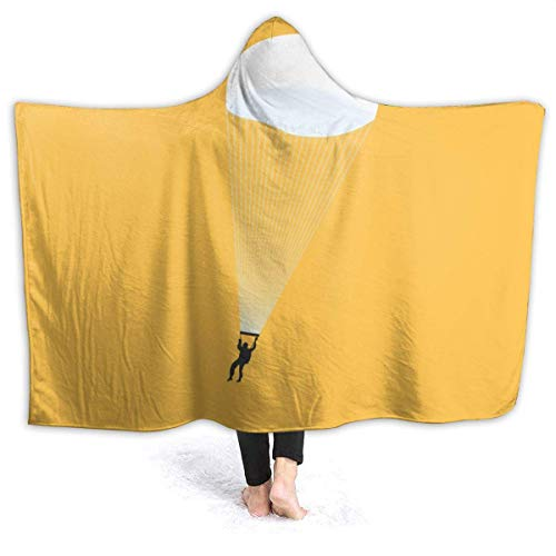 Shenguang Warm Hoodie Decke Fallschirme Kapuze Throw Wrap Cape Cloak Bademantel...