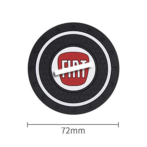MJZYP 1 unids Coster Coster Silicone Car Water Cup Holder Holder Antideslizante para Fiat- 500 500 500X 124 Bravo Freemont Panda Punto (Color Name : Black)