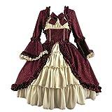 Yaoshi Vestido de Baile rococó Vestido Victoriano gótico Medieval Disfraz de Mascarada Vestidos Largos con Lazo Retro Cosplay Disfraces del Siglo XVIII para Mujeres