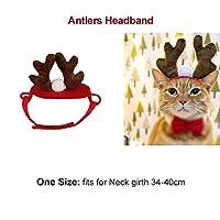XINGGUANGペット犬猫コスチュームクリスマス枝角帽子マントハロウィン変装猫小型犬新年スーツおかしいペットアクセサリーペット服 猫
