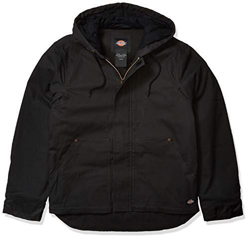 Dickies Men's Sanded Duck Flex Mobility Jacket, Black, XX-Large