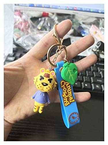 Keychain Silica Gel Keychains Fashion Game Animal Crossing Pendant Keyrings (Color : 3)