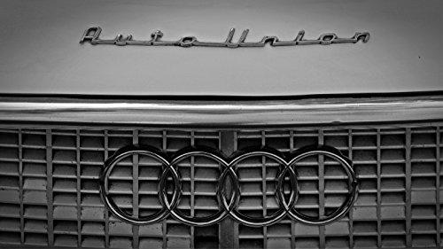 Wandbild 155x90cm Autounion Fototapete Poster XXL Marke Symbol Audi Ringe Alt WA107