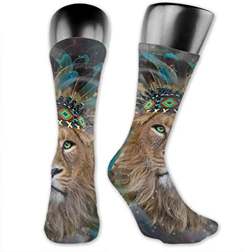 akingstore Wolf American Indian Theme Fight Over-The-Calf Calcetines Calcetines deportivos Calcetines hasta la rodilla para hombres Mujeres Deporte Calcetines largos Medias 40CM