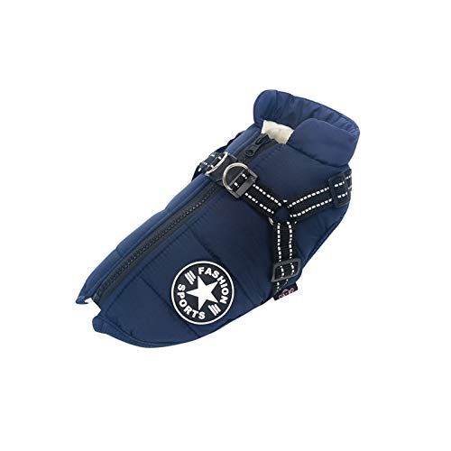 iClosam Pet Jacke Kleidung,Hund Winter warme Mäntel Hund Hundepullover Winter Haustier Kleidung Haustier Jacke Winter Dog Coat Hund Mantel für Kleine Mittelgroße Hunde (L, Blau)