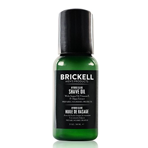 Brickell Men's Hybrid Glide Pre Shave Oil For Men, Natural and Organic Irritation Free Smooth Glide Before Shave, 2 Ounce, Scented