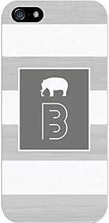 IPH5 CASE Stripes, Grey Elephant- B