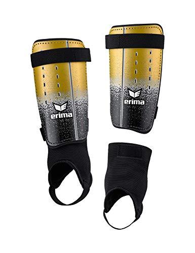 Erima Unisex– Erwachsene Flex Guard Fusion Schienbeinschoner, schwarz/Gold, M