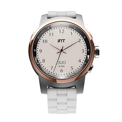 IFit Duo Redonda Nube Seguimiento de Actividad Reloj–Blanco
