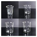 WBJLG 1 Juego de Vaso de precipitados de Vidrio de borosilicato, Experimento de química, Material de Laboratorio Resistente al Calor, Equipo de Laboratorio