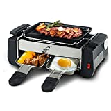Persdico Parrilla eléctrica Coreana para el hogar Parrilla eléctrica sin Humo Parrilla Antiadherente para la Familia Parrilla eléctrica Raclette